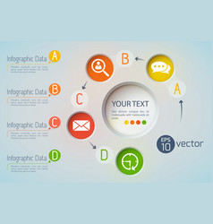data icons infographic concept vector image