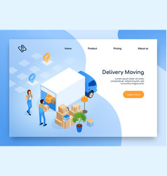 Delivery moving service isometric website vector