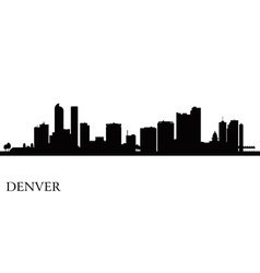 Denver city skyline silhouette background vector