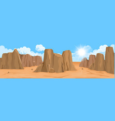 Desert landscape with rocks vector