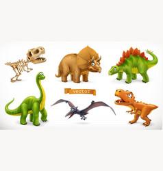 dinosaurs cartoon character brachiosaurus vector image