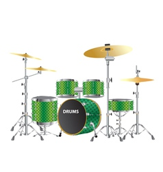 Drums kits images vector