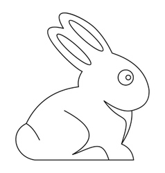 Easter bunny icon outline style vector