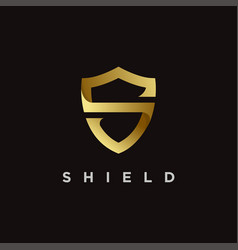 Elegant s shield logo icon vector