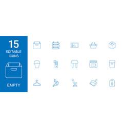 empty icons vector image