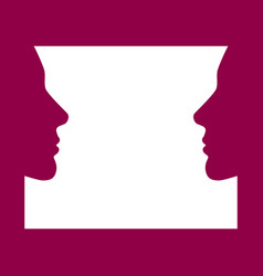 Face to face women face look at each other vector