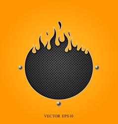 Flame speakers orange background vector