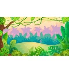 Fun Sunset Jungle Landscape vector image vector image