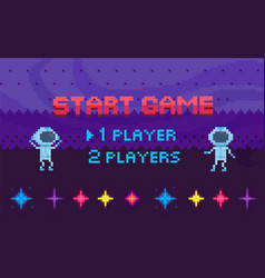 Game start and player selection interface vector