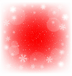 glowing red christmas background vector image