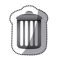 grayscale can trash icon vector image
