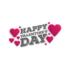 Greeting card happy valentines day lettering with vector