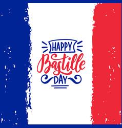 Happy bastille day calligraphy design vector