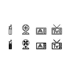 household electronic appliance icon isolated vector image