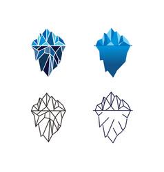 iceberg logo design in different style vector image