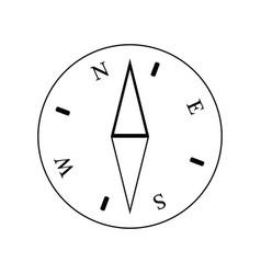 Icon compass vector