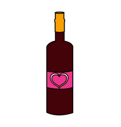 isolated love bottle design vector image