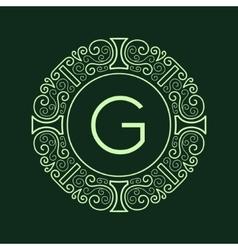 Luxury Vintage Green Frame for Monogram vector image