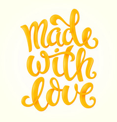 Made with love vector