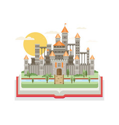 Magic fantasy castle - flat style vector