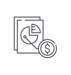 market share line icon concept market share vector image