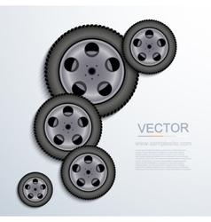 Modern wheels background vector