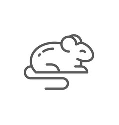 Mouse rat hamster rodent pet animal line icon vector