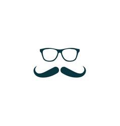 Mustache icon simple vector