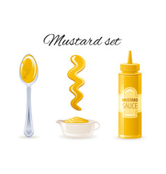mustard sauce hot american mustard sauce bottle vector image