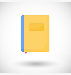 notebook flat icon vector image