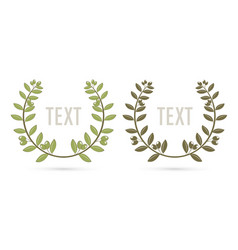 olive branch leaves border wreath frame cartoon vector image
