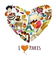 Paris Touristic Poster vector image