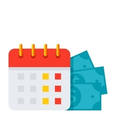 Payment date icon vector