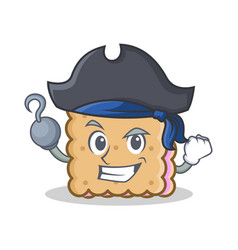 pirate biscuit cartoon character style vector image