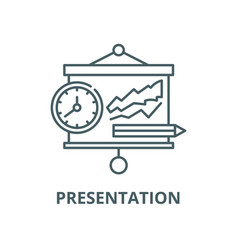 presentation line icon linear concept vector image