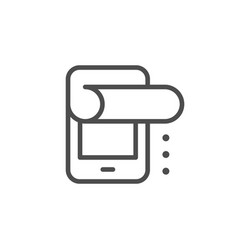 Protective film for device line icon vector