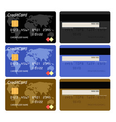 realistic bank credit card template vector image