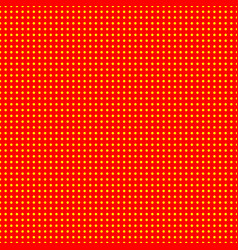 Red and yellow 50s 60s popart background pattern vector