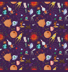 Seamless pattern 1 of childrens drawings in flat vector