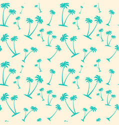Seamless pattern palm trees tropical summer vector