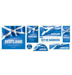 set banners with national flag vector image