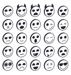 set emoticons vector image