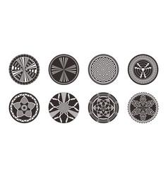 Set of african decorative elements tribal print vector