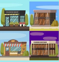 shops concept icons set vector image