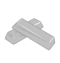 Silver bars vector