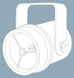 sketch line drawing of a theatre spotlight vector image