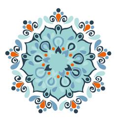 Spiritual lotus mandala design or color vector