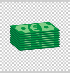 stacks of euro cash in flat design on isolated vector image