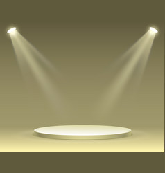 stage podium with lighting vector image