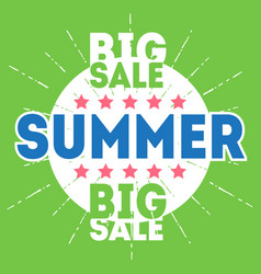 summer big sale poster for big seasonal sale with vector image